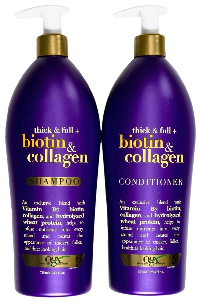 org thick and full biotin and collagen shampoo review