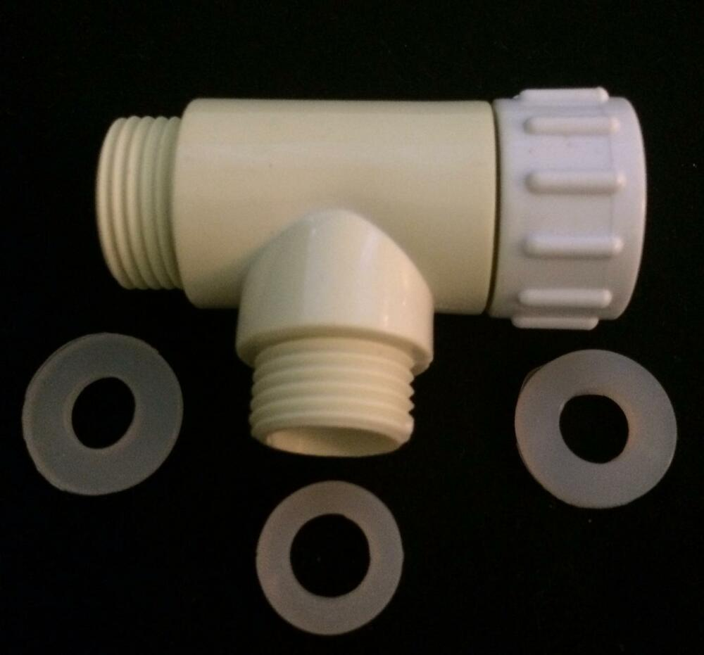 tee adapter t adapter for hose bidet toilet water. Black Bedroom Furniture Sets. Home Design Ideas