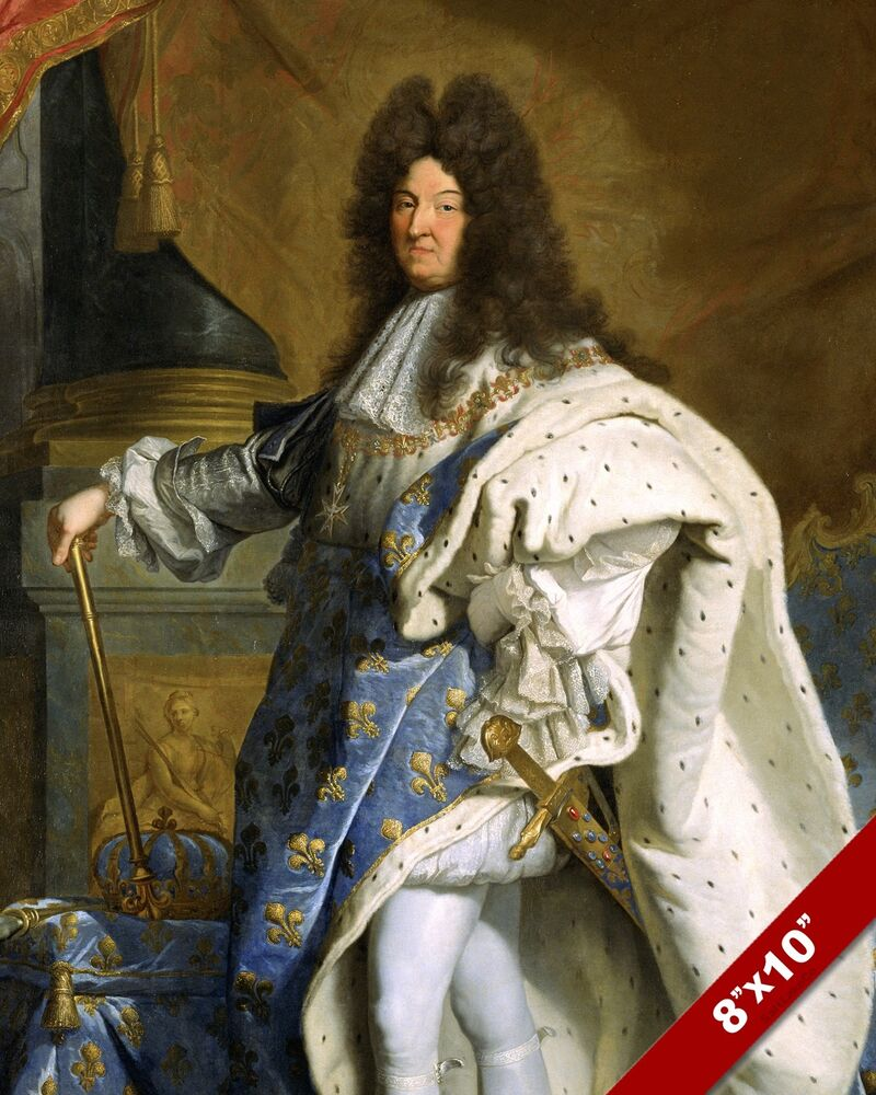 SUN KING OF FRANCE LOUIS XIV PORTRAIT PAINTING ART REAL