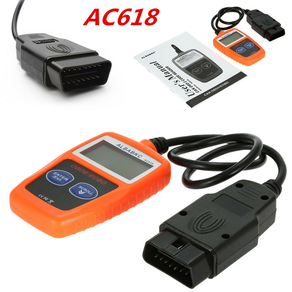 AC618 Car Fault Code Reader CAN OBD2 OBDII Auto Engine