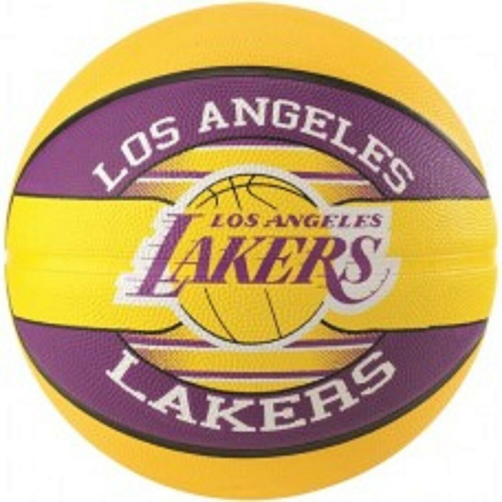 Spalding LA Lakers Team Basketball Size 7 Adult Outdoor ...