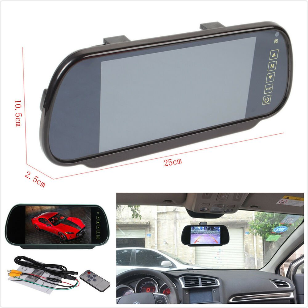 7 lcd tft color screen auto car reverse parking rear view. Black Bedroom Furniture Sets. Home Design Ideas