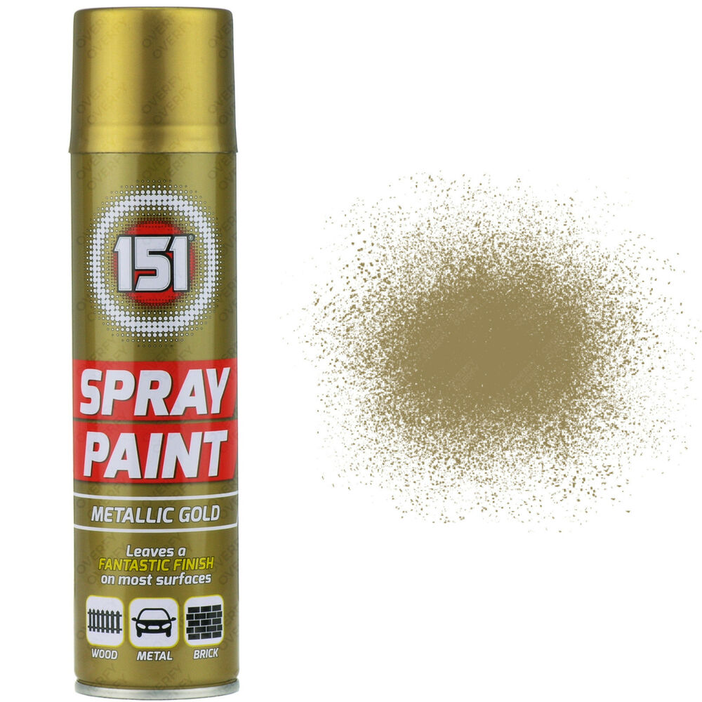 2 X 250ml 151 Metallic Gold Aerosol Paint Spray Cars Wood Metal Walls Graffiti Ebay