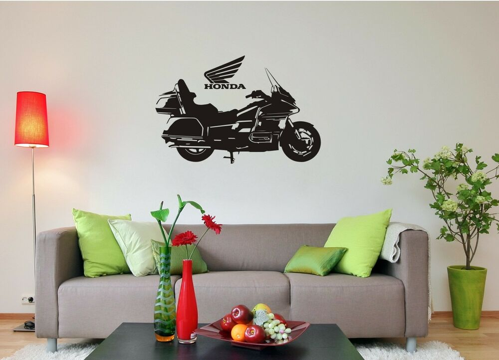 wandtattoo wandaufkleber honda gold wing motorrad ebay. Black Bedroom Furniture Sets. Home Design Ideas