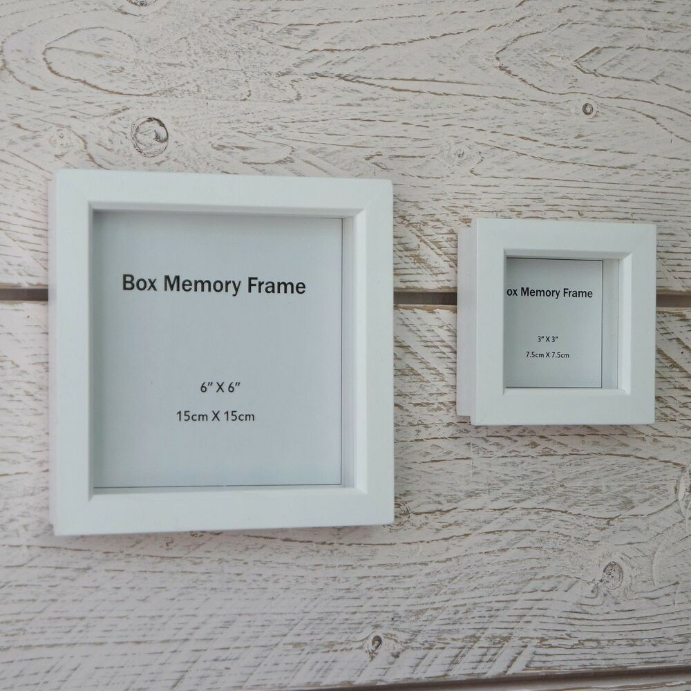 3d photo frame ebay wooden square 3d deep photo frame glass memory display box natural white jeuxipadfo Gallery