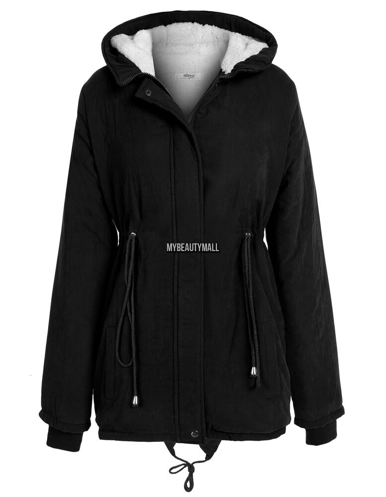 Women cotton Coat Parka Casual Outerwear Hooded Winter
