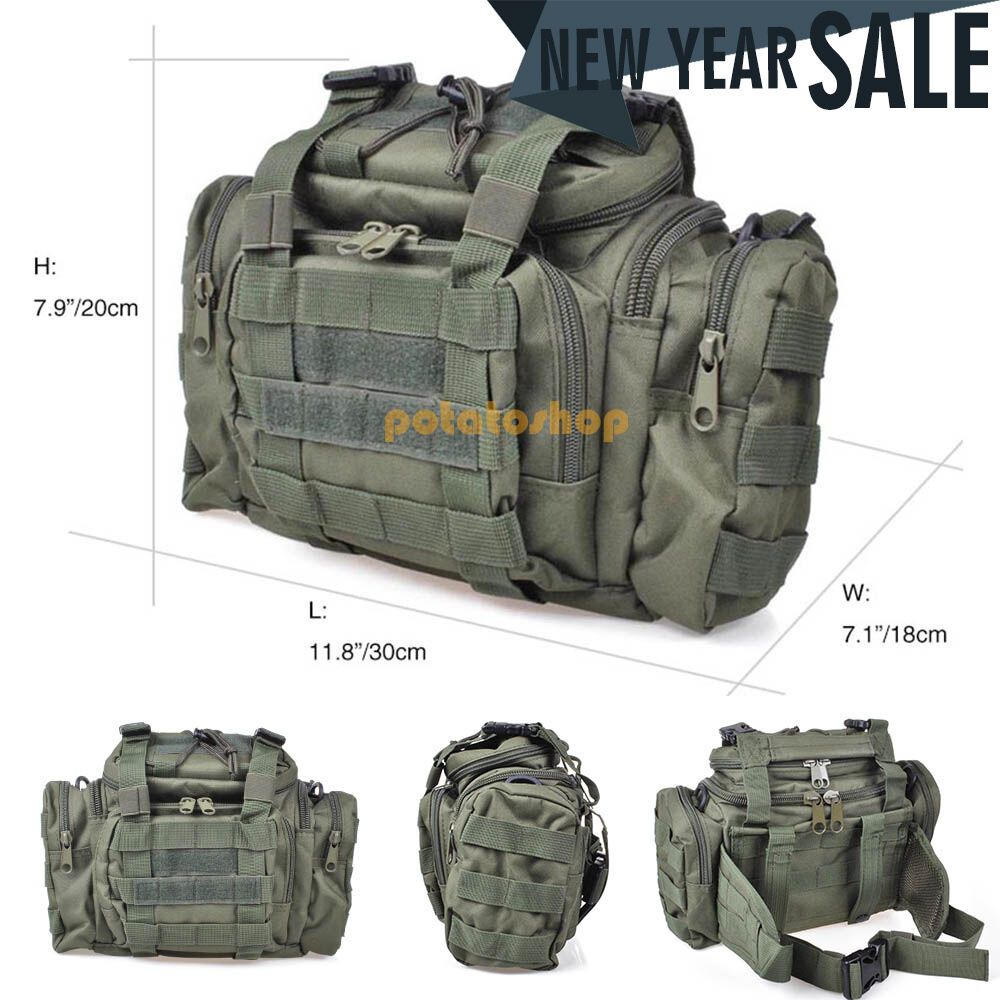 Military waterproof tactical outdoor tackle fishing bag for Ebay fishing gear