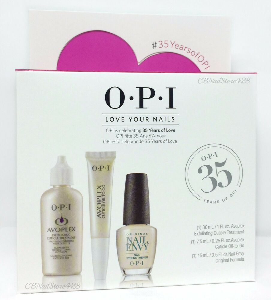 OPI LOVE YOUR NAILS Trio Kit - Exfoliate + Cuticle Oil To Go + Envy ...