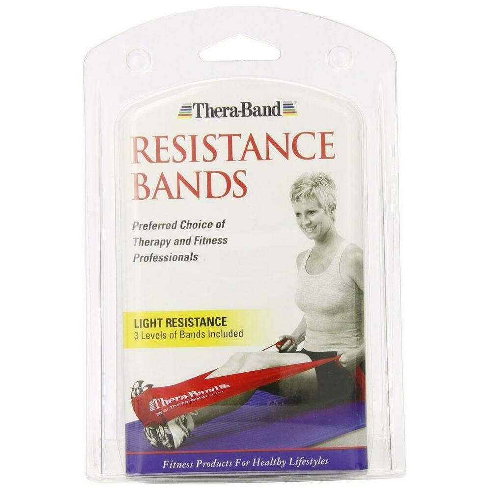Thera-Band Latex Resistance Bands 3pc Fitness Workout