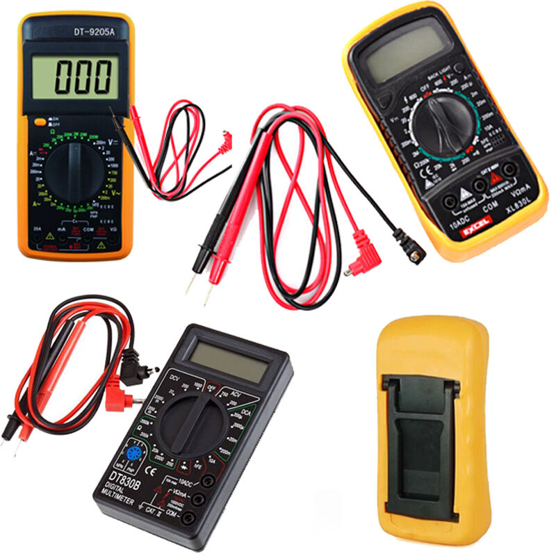 digital multimeter v a ohmmeter kapazit t messger t incl 9v batterie transistor ebay. Black Bedroom Furniture Sets. Home Design Ideas