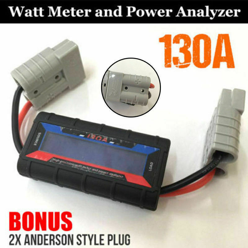 Watt Meter Inline: 130A Digital LCD Watt Meter Amp Power Analyzer Volt
