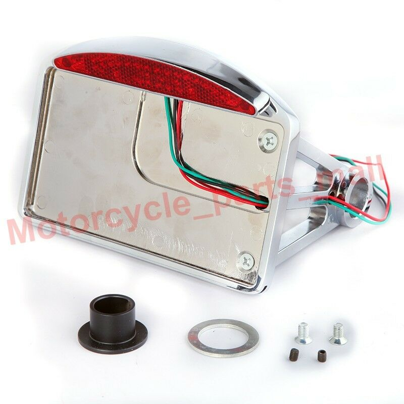 Chrome Motorcycle Side Mount License Plate Bracket Tail