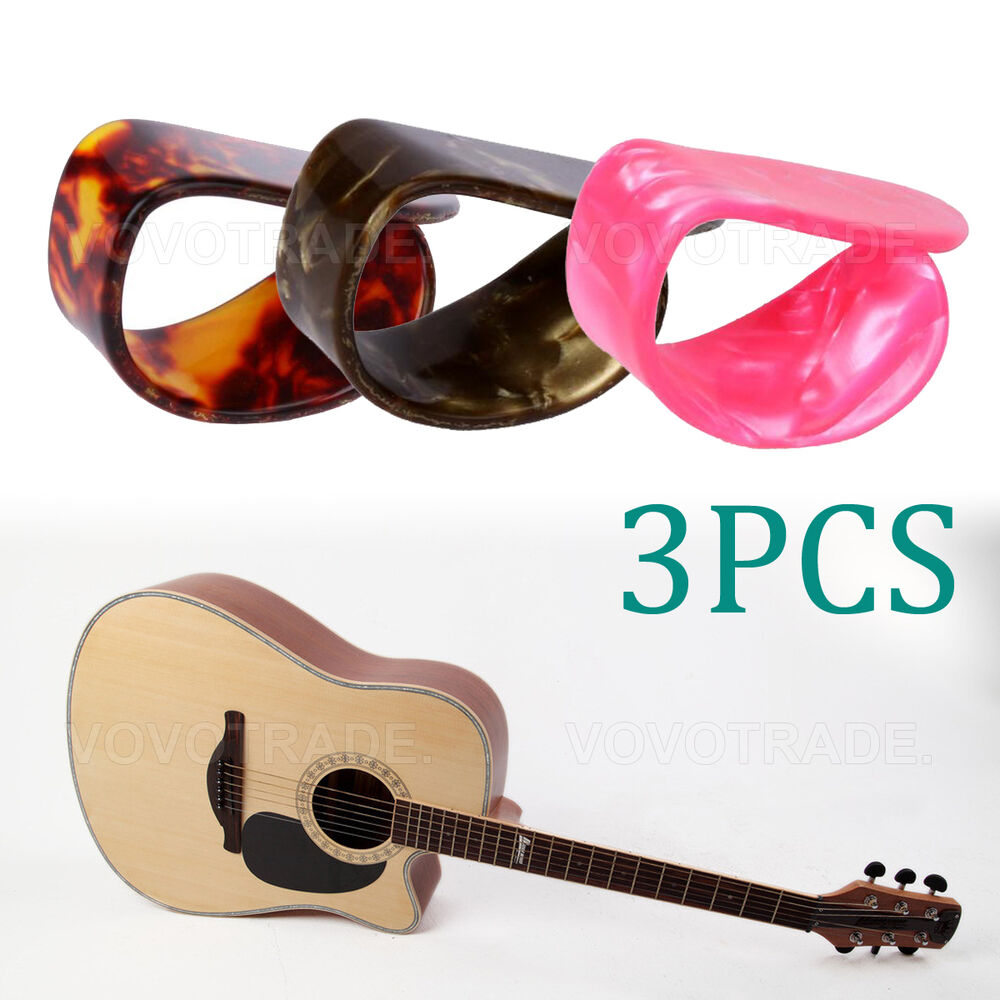 3 pcs celluloid guitar thumb picks finger picks plectrum band mix color picks ebay. Black Bedroom Furniture Sets. Home Design Ideas