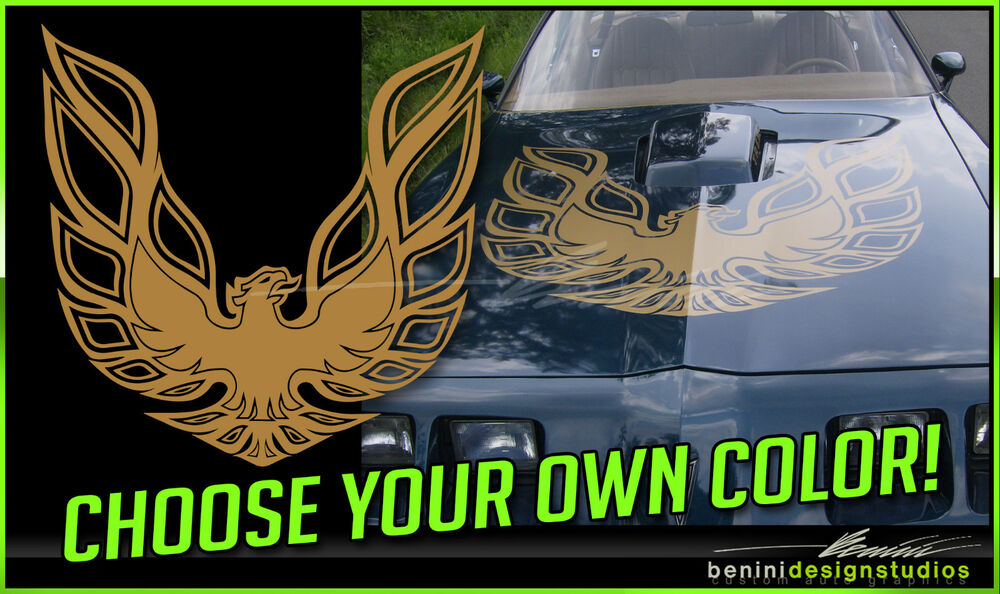 Pontiac Firebird Trans Am Hood Bird Custom Decal 45 Quot X45