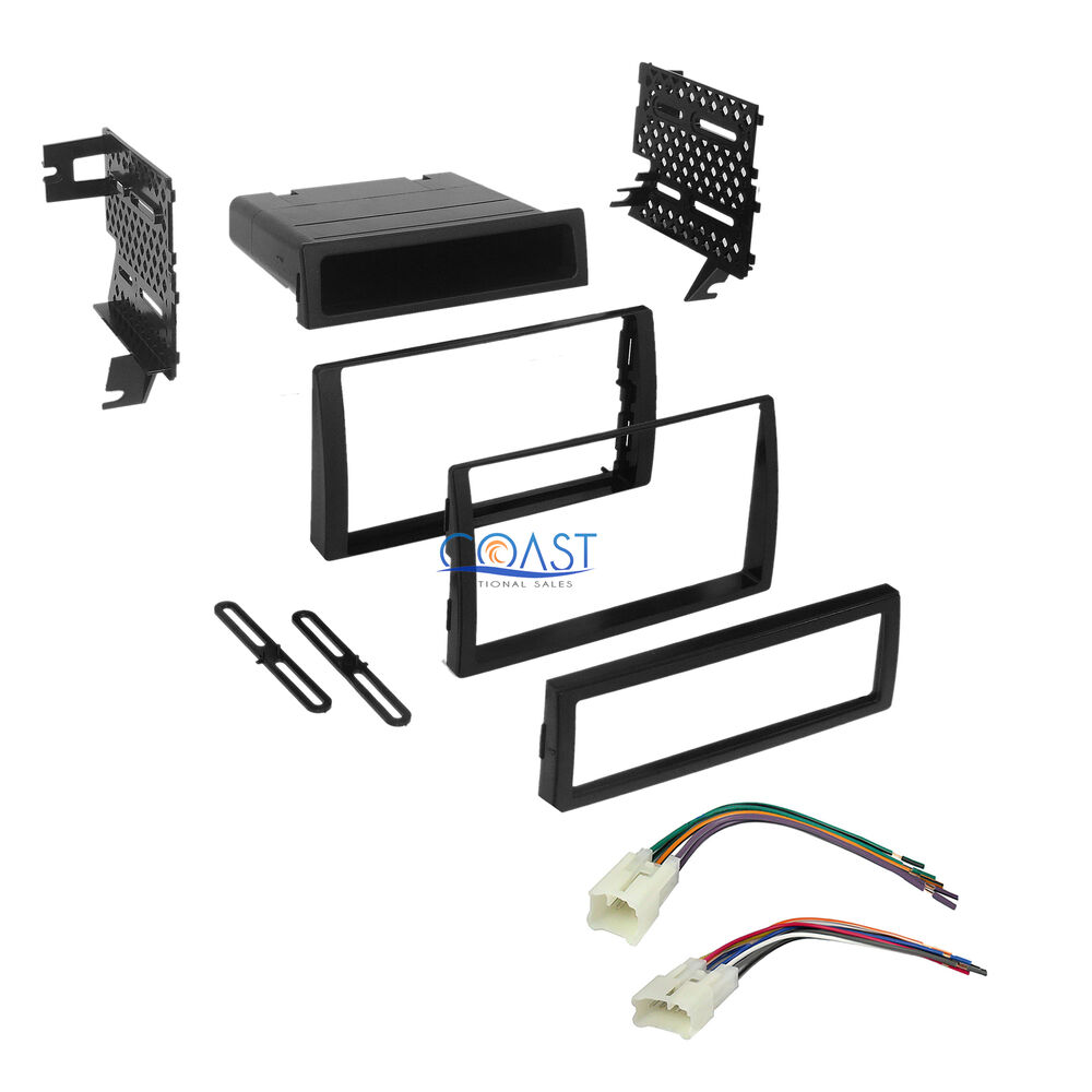 car stereo radio single double din dash kit harness for 2002 2006 toyota camry ebay. Black Bedroom Furniture Sets. Home Design Ideas