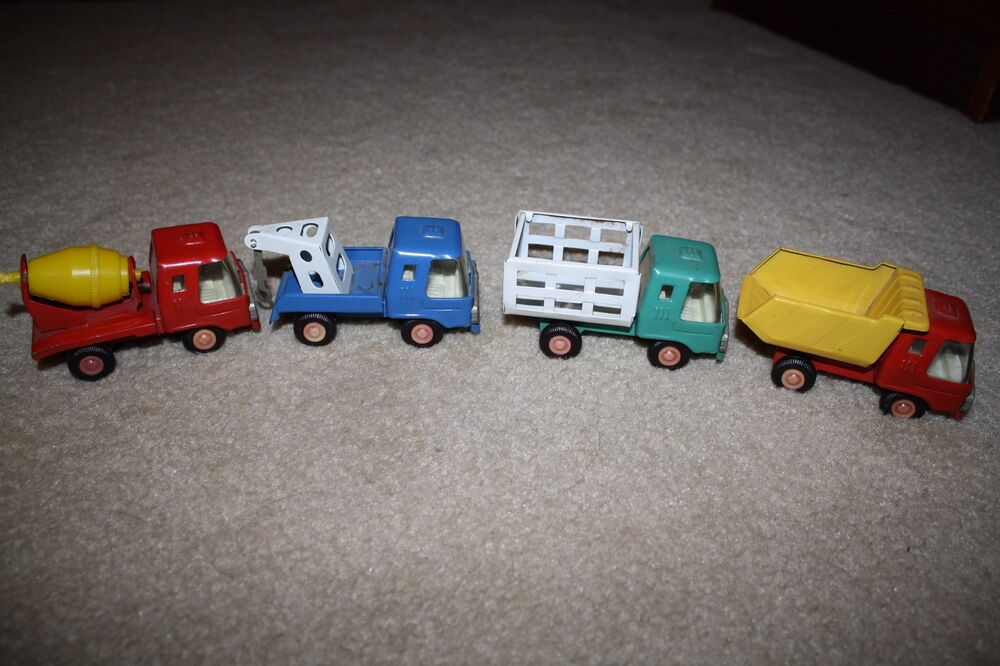 Toys That Were Made In The 1970 : Set of vintage s tin toy trucks made in japan