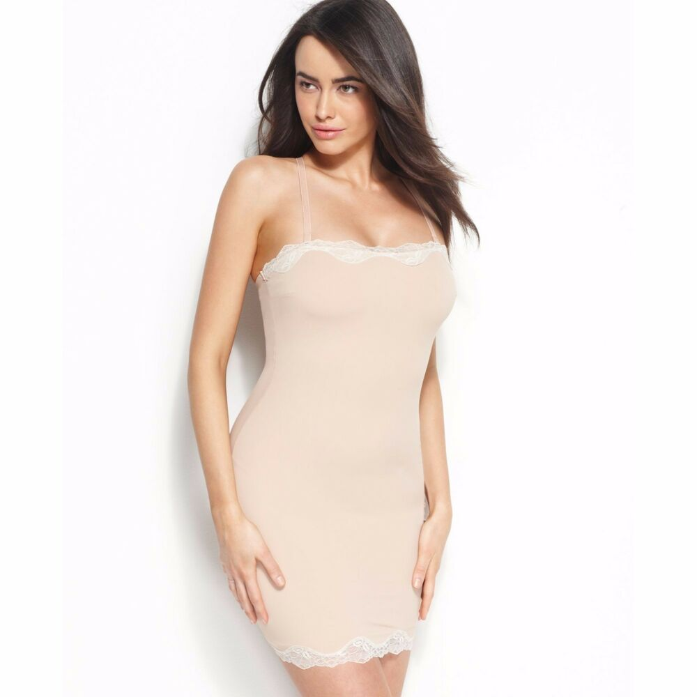 502d34158 Details about Star Power SPANX Firm Control Something Sweet Lace-Trimmed  Full Slip 2410