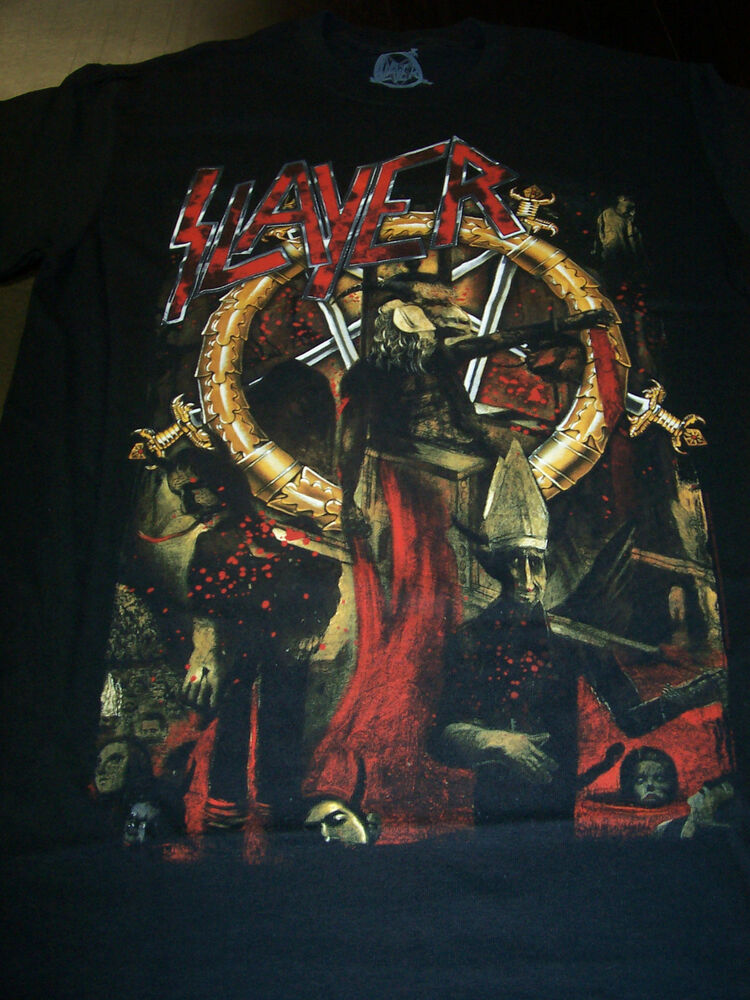 slayer reign in blood 30th anniversary officially licensed t shirt new ebay. Black Bedroom Furniture Sets. Home Design Ideas