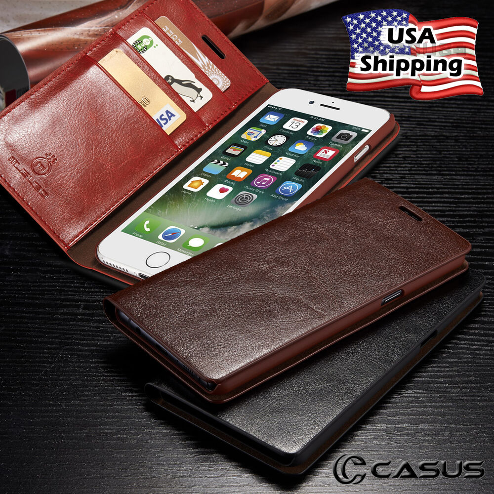 iphone wallet case genuine leather slim wallet card flip stand cover for 12460