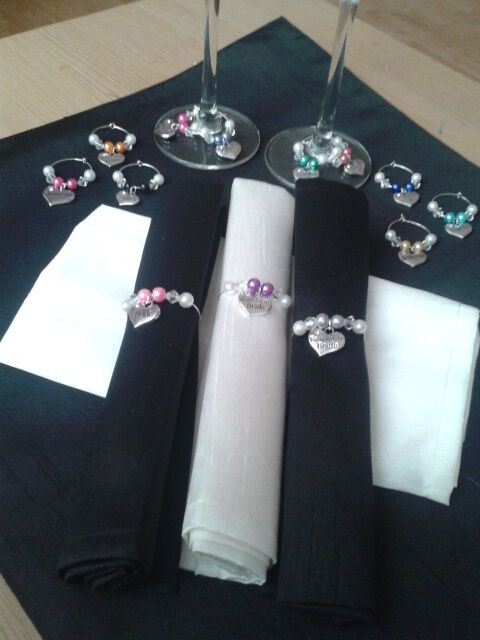 Wine Glass Charmsnapkin Rings For Wedding Top Table