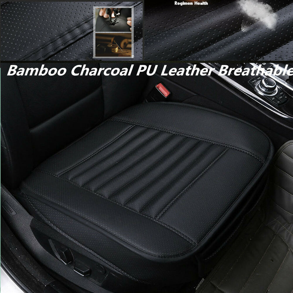 pu leather bamboo charcoal full surround auto car seat cover protect cushion mat ebay. Black Bedroom Furniture Sets. Home Design Ideas