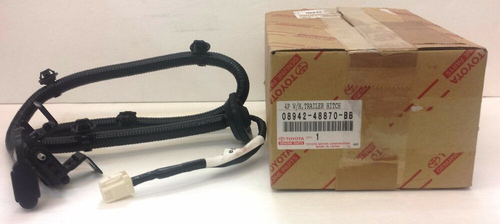 Lexus Oem Factory Tow Wire Harness 4 Pin Flat 2004