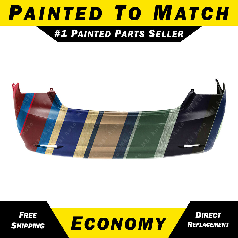 New Painted To Match Rear Bumper Cover Replacement For