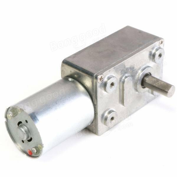 12v dc 5rpm worm drive reduction gear motor with high for High torque high speed dc motor