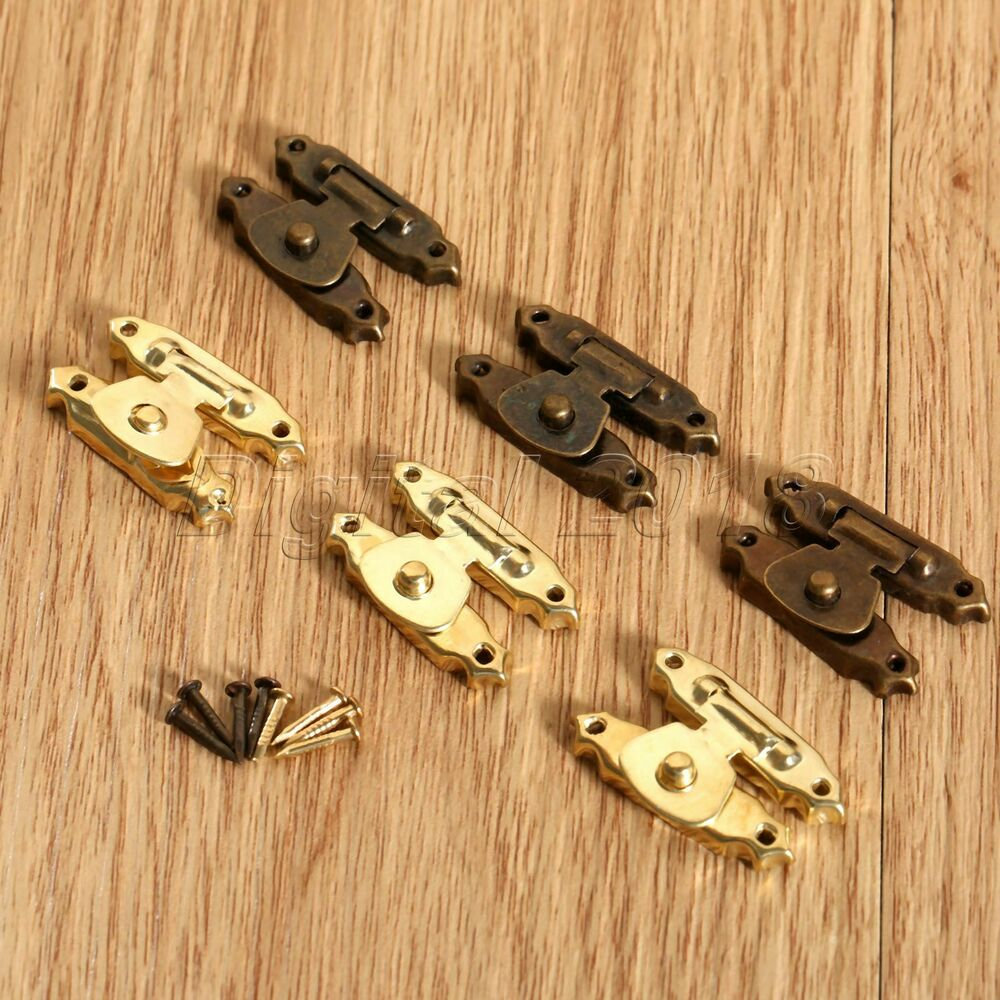 5 10pcs Antique Decoration Mini Hasp Latches For Jewelry