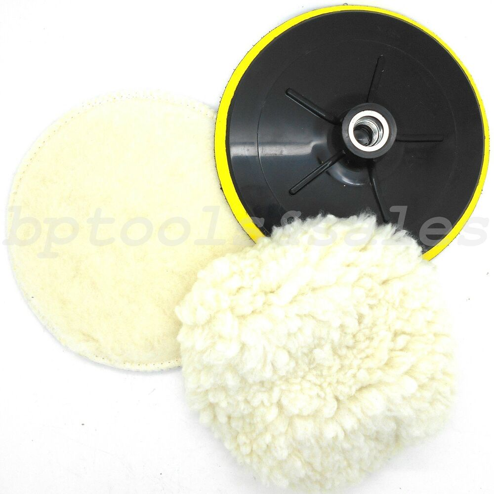 "7"" Electric Car Polishing Wheel Buffing Soft Quick Fit"