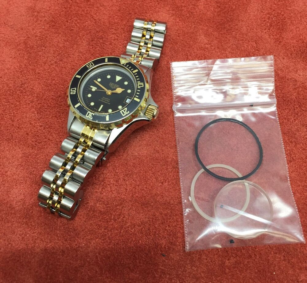 Vintage Ladies Tag Heuer 1000 Diver Two-tone Gold/SS, 980 ...
