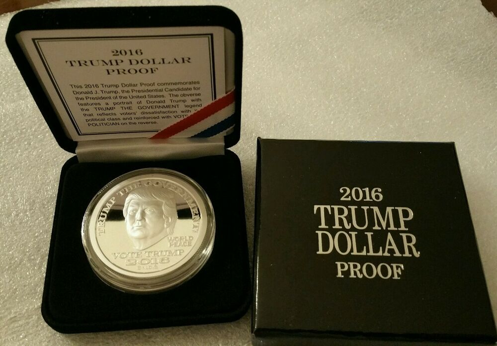 President Donald Trump 1 Oz 999 Silver Dollar Proof Make