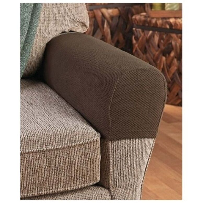 Armrest Covers Stretchy 2 Piece Set Chair Or Sofa Arm