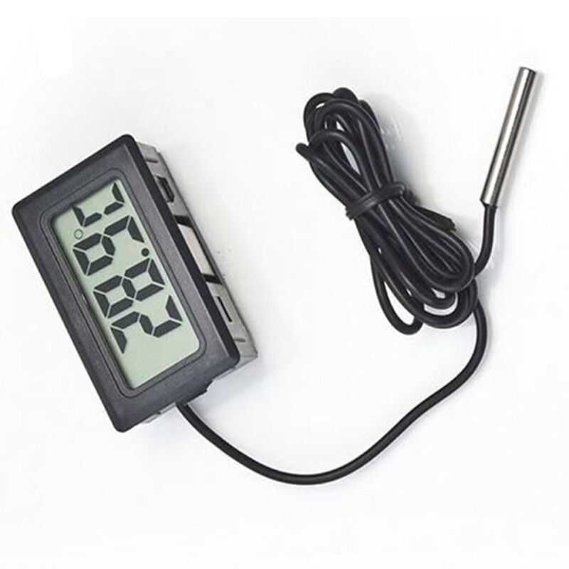 digital thermometer hygrometer thermof hler lcd anzeige 50 110grad c 1m kabel ebay. Black Bedroom Furniture Sets. Home Design Ideas