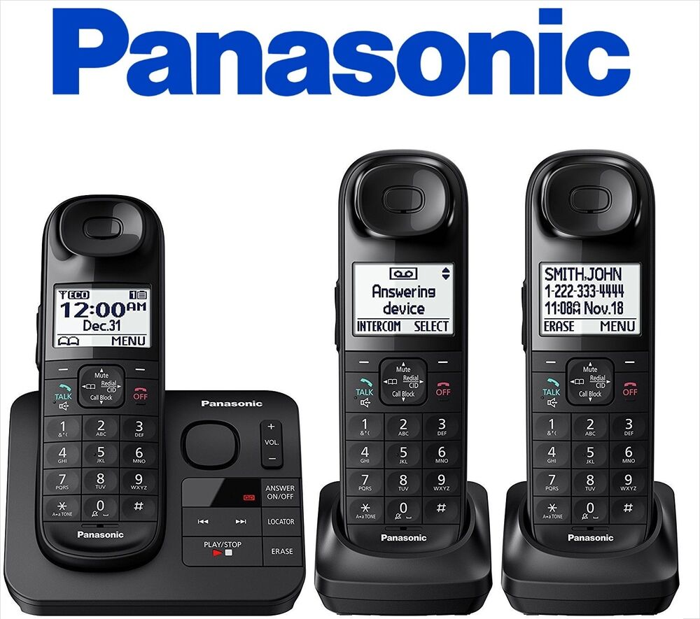 Panasonic KX-TGL433B Expandable Cordless Phone Answering ...
