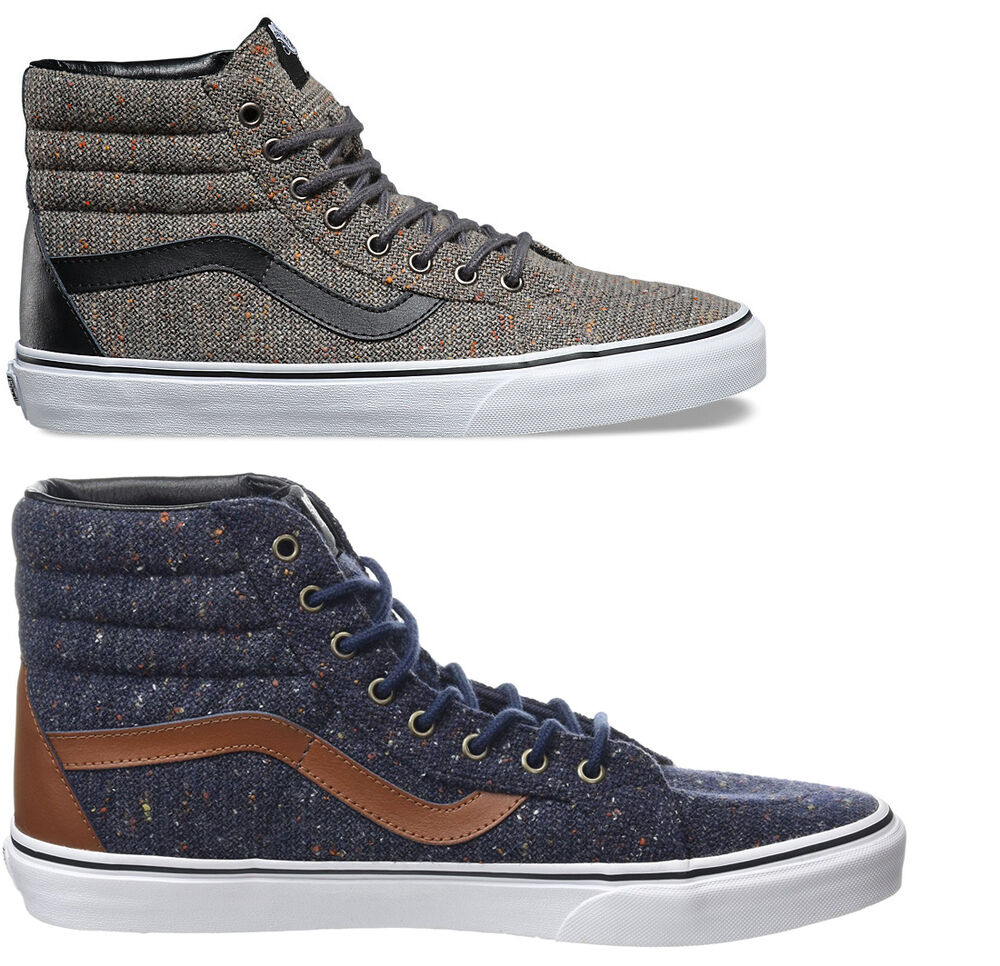 SCARPE VANS SK8HI Reissue WOOL LEATHER uomo SNEAKERS AUTHENTIC pelle SHOES