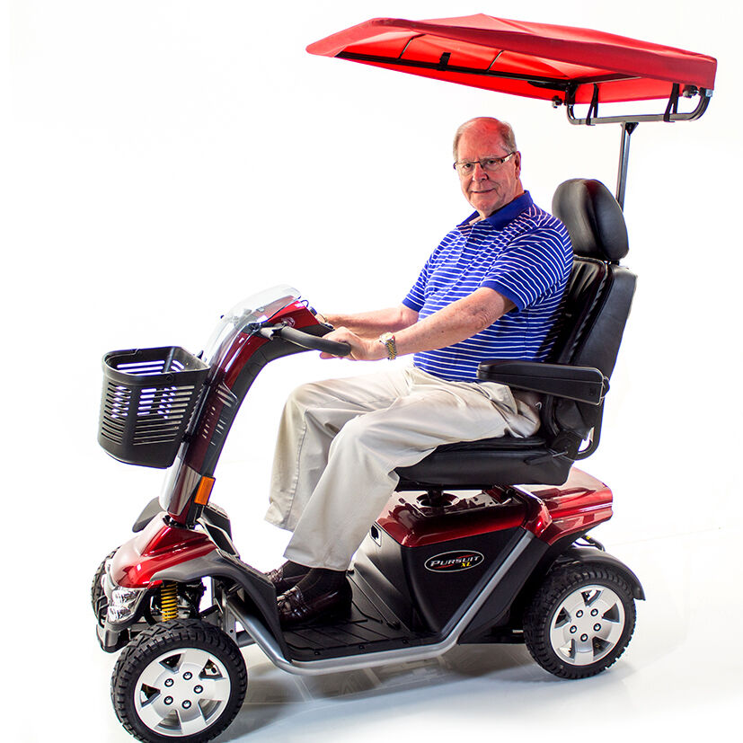 Pride Mobility Scooter >> Challenger SUNSHADE CANOPY for most Pride, Golden & Drive Mobility Scooter - Red | eBay