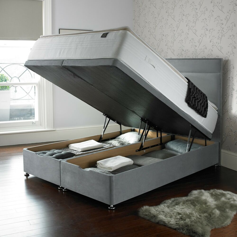 Ottoman divan beds luxury ottoman divan storage bed for Divan storage bed mattress