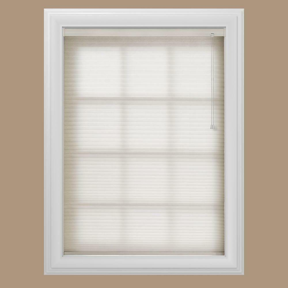 White 3 8 In Light Filtering Cellular Shade 25 3 4 X 48
