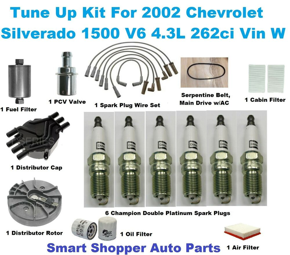 Tune Up Parts List : Tune up kit for chevrolet silverado spark plug