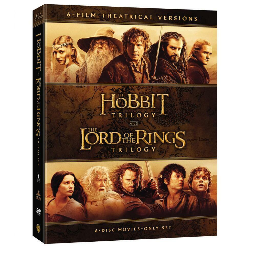 Lord Of The Rings + Hobbit Movie Trilogies Complete