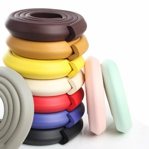 extra thick baby proofing edge guard foam protector bumpers 4 corners cushion ebay. Black Bedroom Furniture Sets. Home Design Ideas