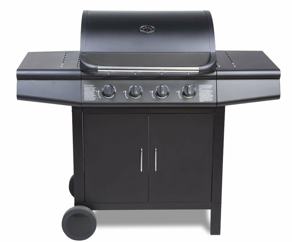 fireplus  gas burner grill bbq barbecue black ebay
