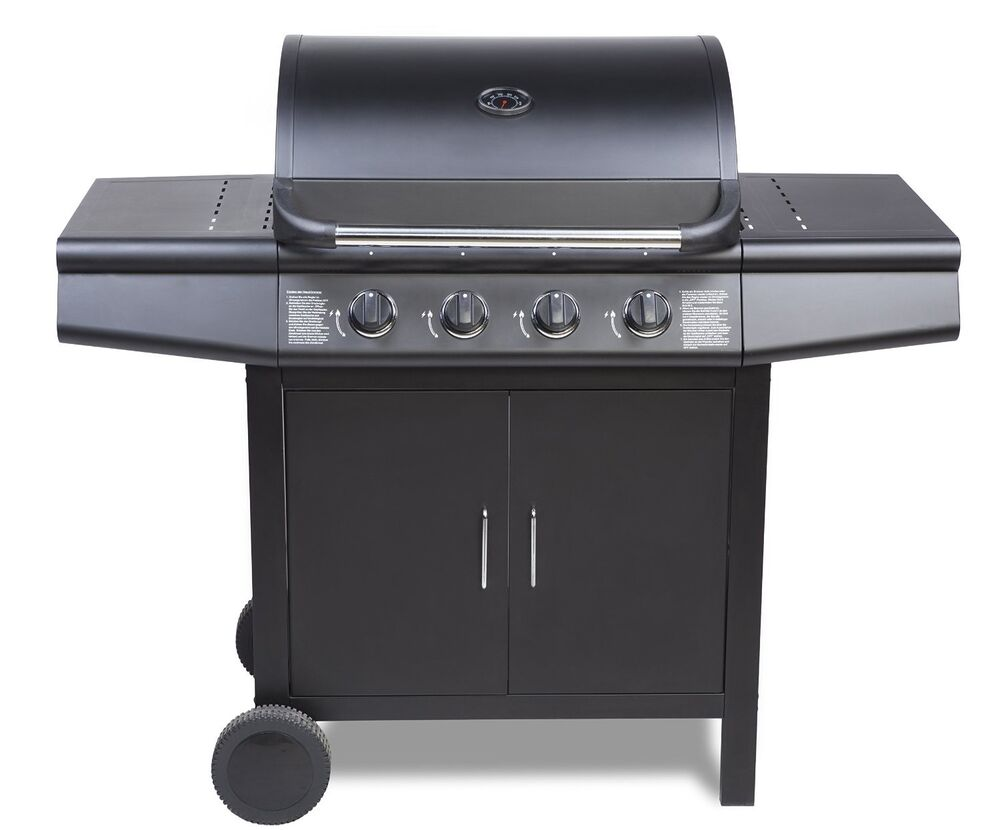 fireplus 4 0 gas burner grill bbq barbecue black ebay. Black Bedroom Furniture Sets. Home Design Ideas