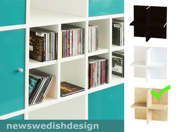 cd einsatz mit stabiler r ckwand f r ikea kallax regal birke ebay. Black Bedroom Furniture Sets. Home Design Ideas