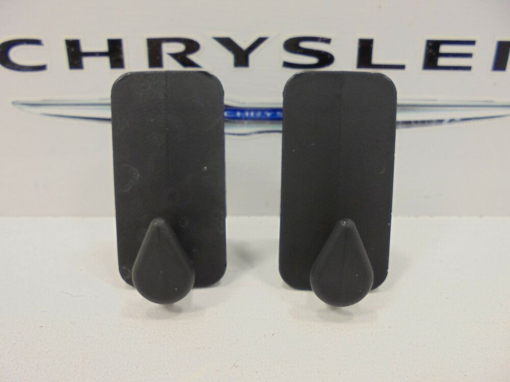 Custom Dodge Ram 1500 >> 00-09 Chrysler Dodge Jeep Ram New Floor Mat Retainer Clip Black Mopar Set of 2 | eBay