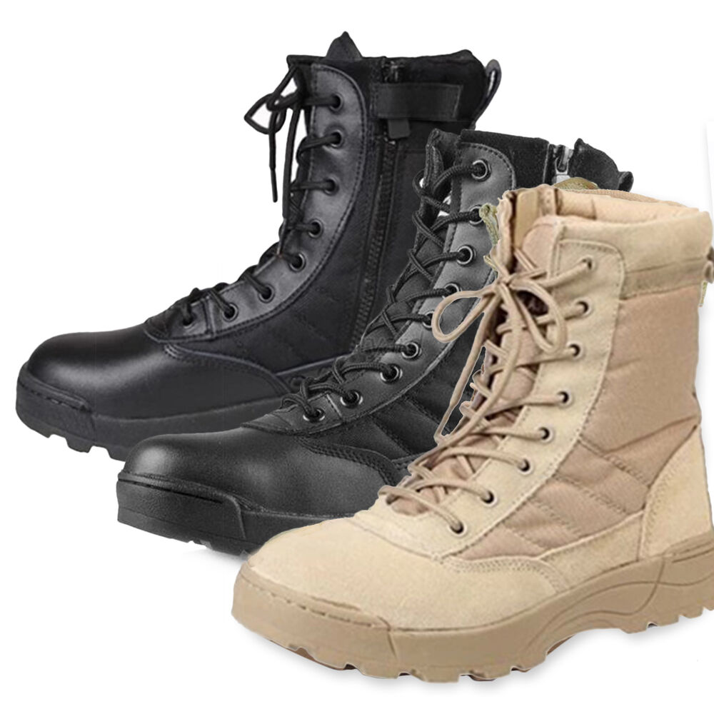 men army tactical comfort leather combat military ankle