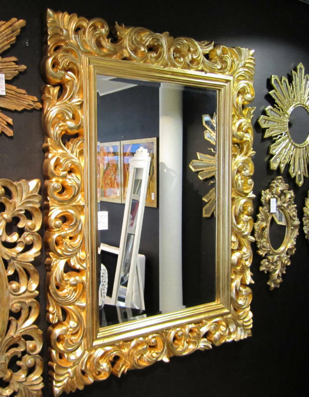wandspiegel flurspiegel 120x90 barock gold spiegel. Black Bedroom Furniture Sets. Home Design Ideas