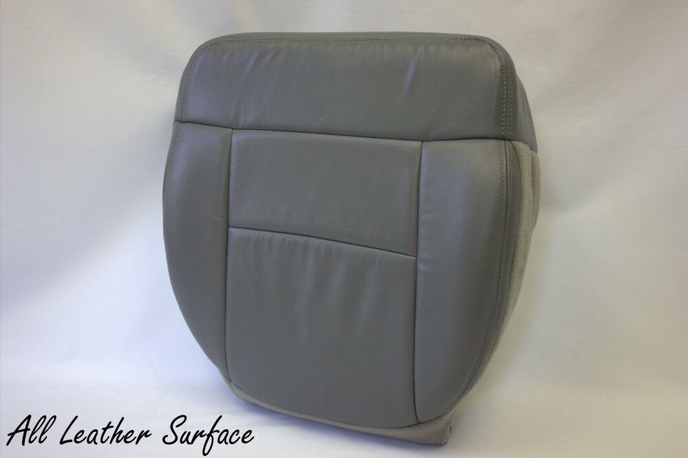 2004 2005 2006 2007 2008 ford f 150 xlt driver bottom leather seat cover gray ebay. Black Bedroom Furniture Sets. Home Design Ideas