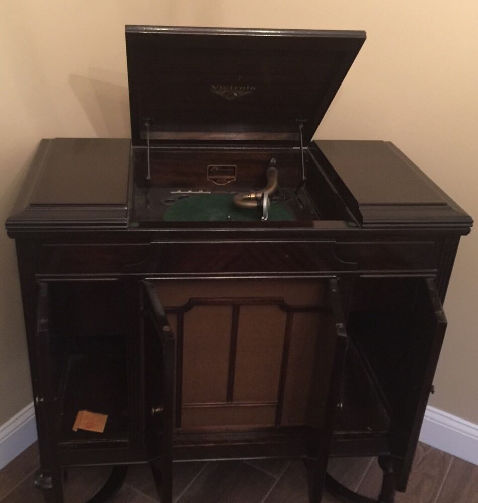 Antique 1929 Victor Victrola Phonograph Vv4 40 Record